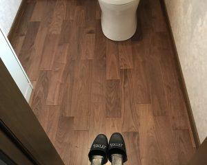 トイレ床増し張り工事サムネイル